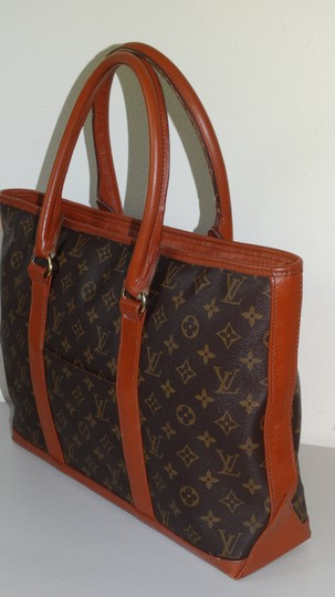 Louis Vuitton Vintage Sac Weekend French Co Tote in Brown Image 3