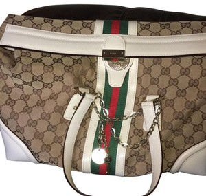 Gucci Satchel in white/brown