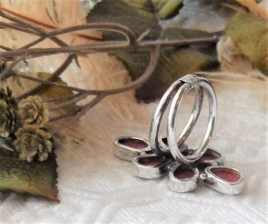 Handmade Unique Sterling Silver and Spiny Oyster Shell Ring Image 6