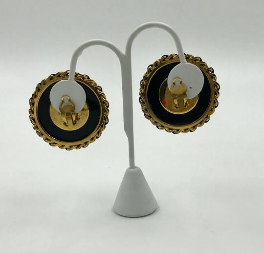 Chanel Authentic Chanel Pearl and Black Resin Clip Earrings Image 2