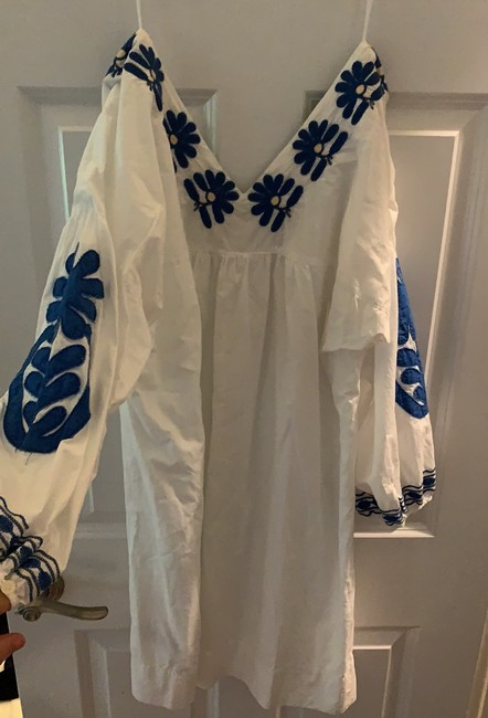 Madewell short dress white and blue on Tradesy Image 3