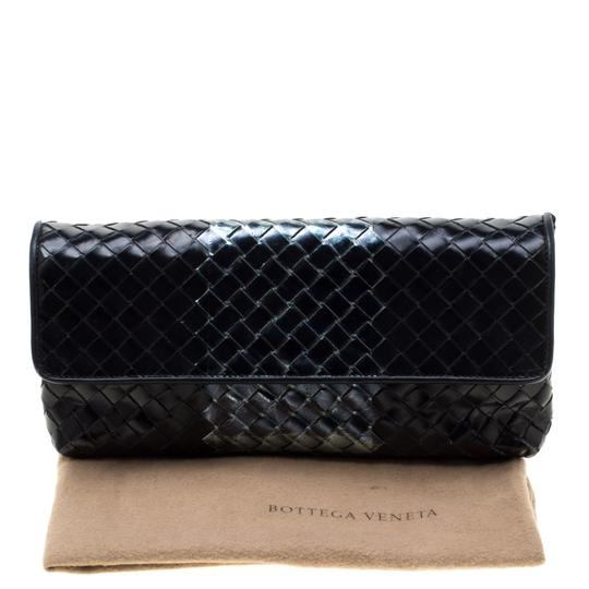 Bottega Veneta Leather Black Clutch Image 10