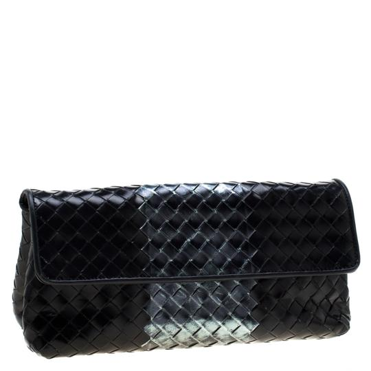 Bottega Veneta Leather Black Clutch Image 3