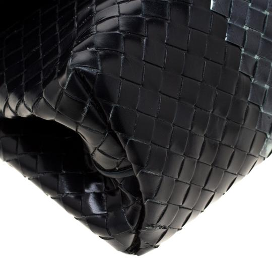 Bottega Veneta Leather Black Clutch Image 8