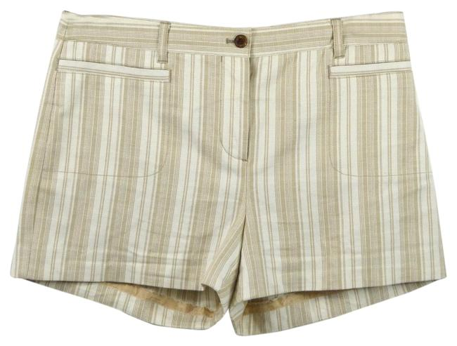 Item - Ivory/ Tan/ Brown Striped #154-58 Shorts Size 6 (S, 28)