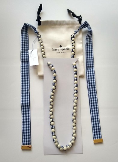 Kate Spade NEW Pretty Pearly Gingham Ribbon Long Image 3