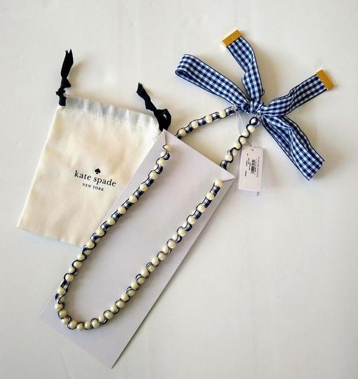 Kate Spade NEW Pretty Pearly Gingham Ribbon Long Image 4
