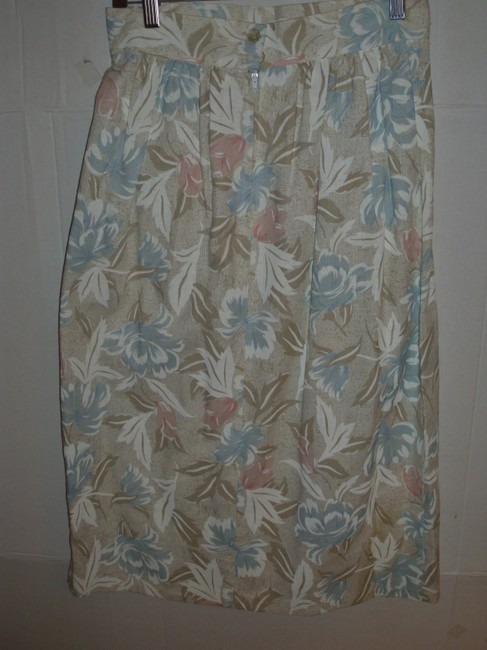 winsome New York Retro Peasant 70s 80s 90s Skirt Pastel Image 1