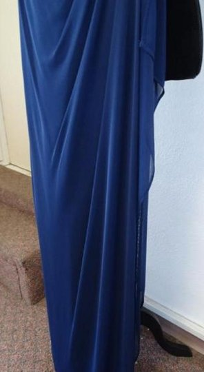 Alfred Angelo Charcoal 8111l Traditional Bridesmaid/Mob Dress Size 6 (S) Image 4