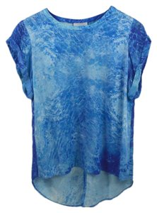 Addison Die Dye Summer Spring Night Out Date Night Top BLUE/ WHITE