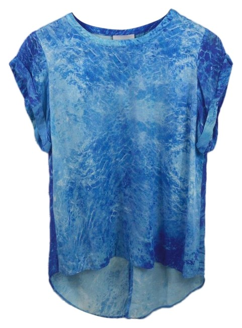 Addison Die Dye Summer Spring Night Out Date Night Top BLUE/ WHITE Image 0