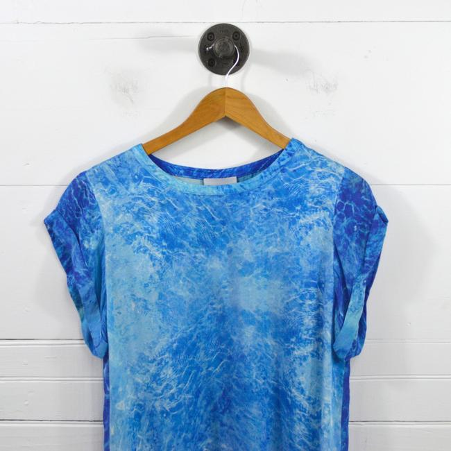 Addison Die Dye Summer Spring Night Out Date Night Top BLUE/ WHITE Image 1