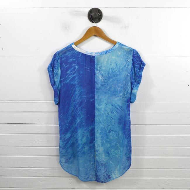 Addison Die Dye Summer Spring Night Out Date Night Top BLUE/ WHITE Image 2