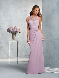 Alfred Angelo Lilac 7407 Traditional Bridesmaid/Mob Dress Size 8 (M)