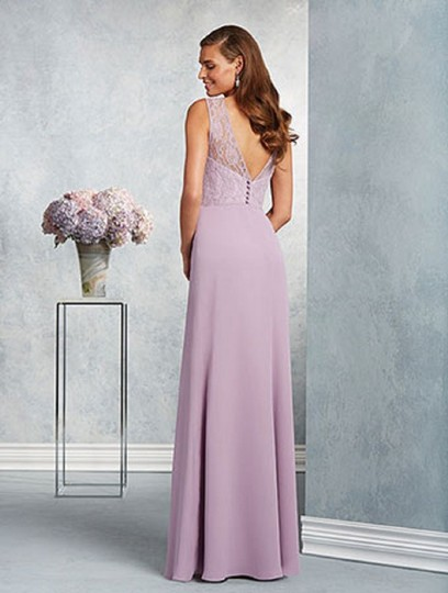 Alfred Angelo Lilac 7407 Traditional Bridesmaid/Mob Dress Size 8 (M) Image 1