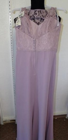 Alfred Angelo Lilac 7407 Traditional Bridesmaid/Mob Dress Size 8 (M) Image 2
