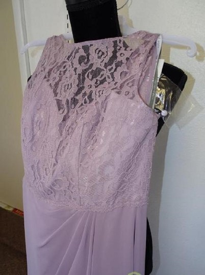 Alfred Angelo Lilac 7407 Traditional Bridesmaid/Mob Dress Size 8 (M) Image 3