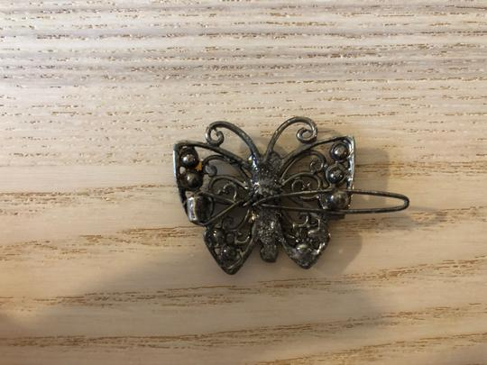 Chomel Jeweled butterfly hair clips Image 2