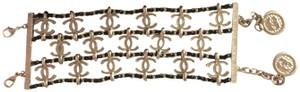 Chanel Gorgeous Authentic WIDE CHANEL BRACELET Classic Leather Chain Band