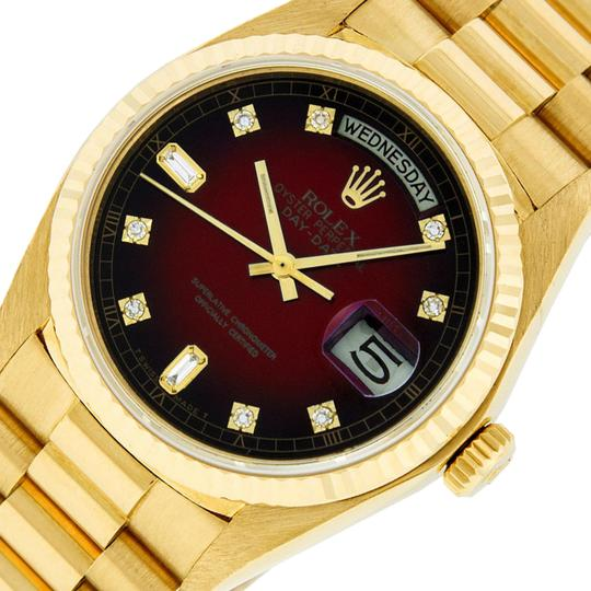 Preload https://img-static.tradesy.com/item/25553367/rolex-red-vignette-mens-datejust-18k-yellow-gold-with-diamond-dial-watch-0-1-540-540.jpg