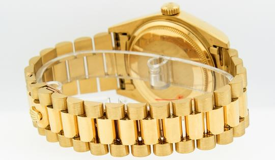 Rolex Mens Datejust 18k Yellow Gold with Diamond Dial Watch Image 2