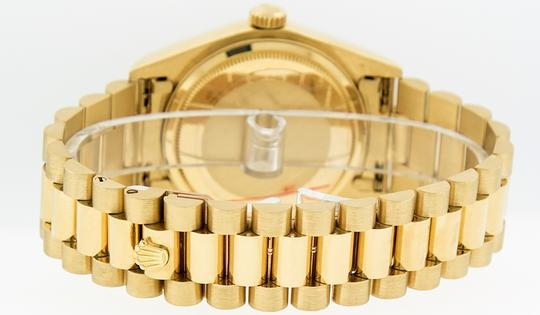 Rolex Mens Datejust 18k Yellow Gold with Diamond Dial Watch Image 3
