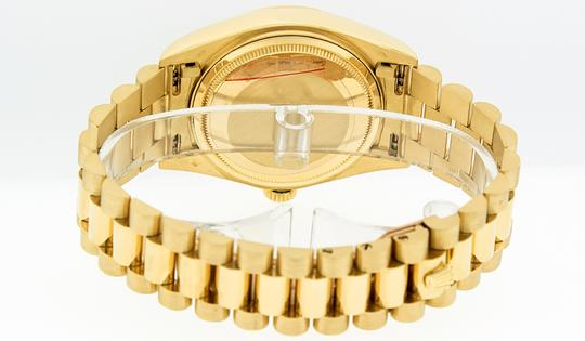 Rolex Mens Datejust 18k Yellow Gold with Diamond Dial Watch Image 5