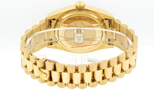 Rolex Mens Datejust 18k Yellow Gold with Diamond Dial Watch Image 6