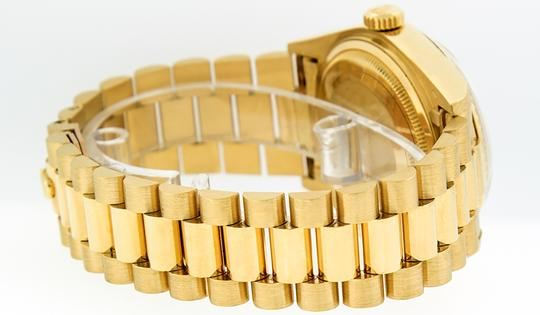 Rolex Mens Datejust 18k Yellow Gold with Diamond Dial Watch Image 7