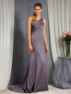 Alfred Angelo Charcoal 7379l Traditional Bridesmaid/Mob Dress Size 6 (S)
