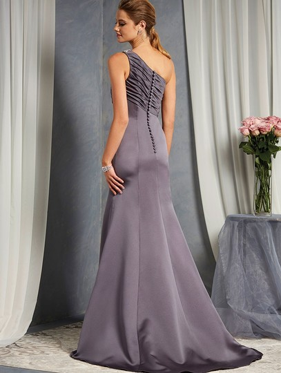 Alfred Angelo Charcoal 7379l Traditional Bridesmaid/Mob Dress Size 6 (S) Image 1