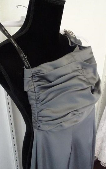 Alfred Angelo Charcoal 7379l Traditional Bridesmaid/Mob Dress Size 6 (S) Image 3