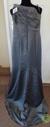 Alfred Angelo Charcoal 7379l Traditional Bridesmaid/Mob Dress Size 6 (S) Image 6