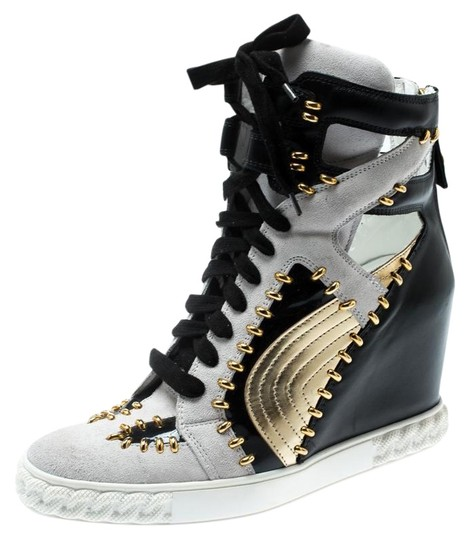 Preload https://img-static.tradesy.com/item/25553401/casadei-multicolor-tricolor-suede-and-leather-studded-high-top-sneakers-wedges-size-eu-40-approx-us-0-1-540-540.jpg