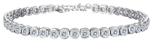Preload https://img-static.tradesy.com/item/25553410/-925-sterling-silver-round-white-sapphire-tennis-bracelet-earrings-0-3-540-540.jpg