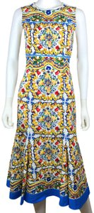 Dolce&Gabbana Party Wedding Backless Majolica Print Dress