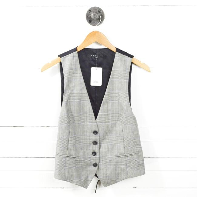 Item - Black/ Grey Houndstooth #155-10 Vest Size 10 (M)