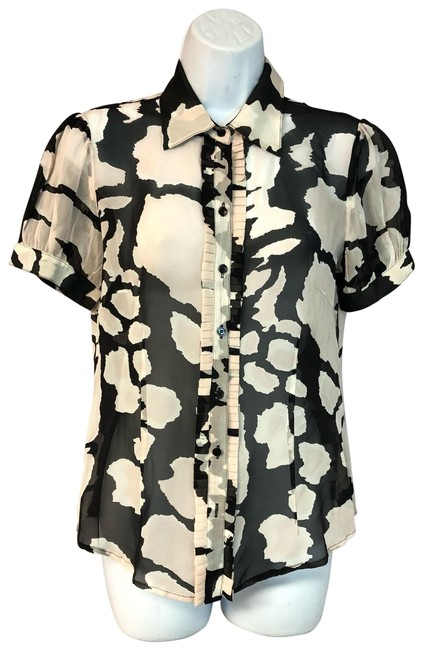 Item - Multicolor Printed Silk Blouse 36 Button-down Top Size 6 (S)