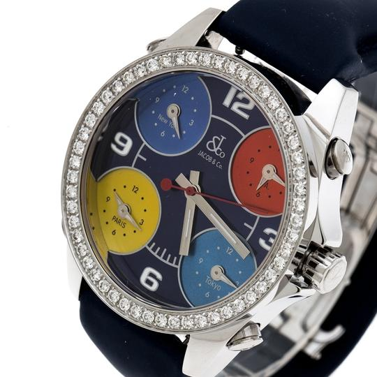 Jacob & Co. Dial Stainless Steel Diamond Five Time Zone Women's Wristwatch 40 mm Image 1