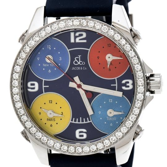 Jacob & Co. Dial Stainless Steel Diamond Five Time Zone Women's Wristwatch 40 mm Image 2