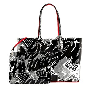 Christian Louboutin Tote in Black And White