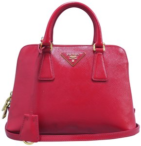 6d3c795c0 Prada Small Saffiano Leather Promenade Satchel in Red