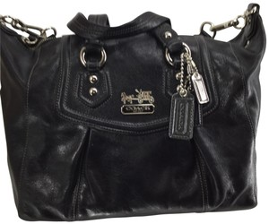 Coach 1941 Satchel in Black with silver tone hardware