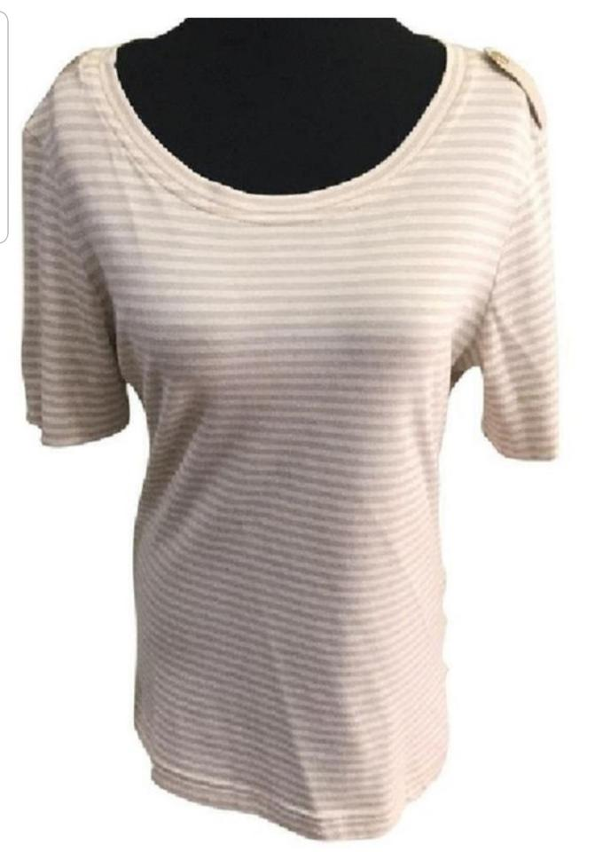 f96bb93a160d04 Tory Burch Beige and Cream Tee Shirt Size 2 (XS) - Tradesy