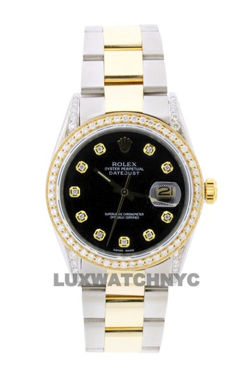 Preload https://img-static.tradesy.com/item/25555603/rolex-black-dial-2ct-36mm-men-s-datejust-2-tone-with-appraisal-and-watch-0-0-540-540.jpg