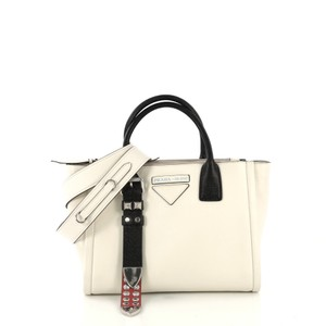 Prada Calfskin Satchel in white