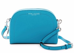 Marc Jacobs Playback Leather Silver Hardware Turquoise Cross Body Bag