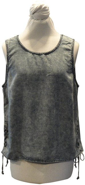 Item - Denim Sleeveless with Lace Up Tank Top/Cami Size 12 (L)