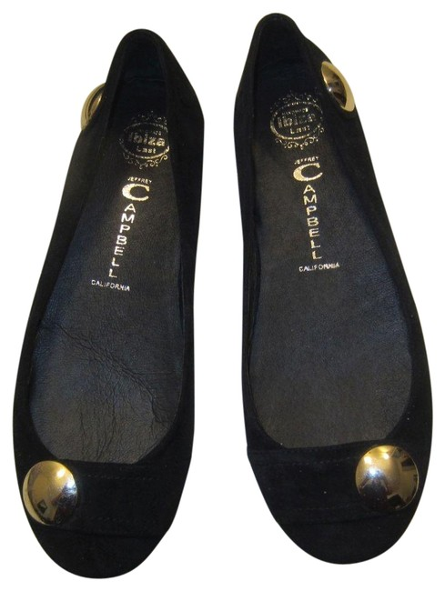 Jeffrey Campbell Black Gold Release Suede Flats Size US 9.5 Regular (M, B) Jeffrey Campbell Black Gold Release Suede Flats Size US 9.5 Regular (M, B) Image 1