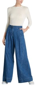 Ulla Johnson Lange Denim Trouser/Wide Leg Jeans